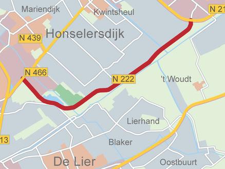 Verdubbeling N222 en aansluiting Verlengde Veilingroute